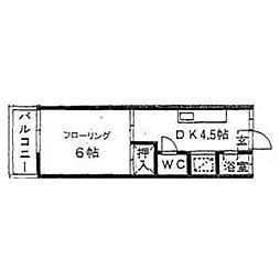 コーポ上野[202号室]の間取り