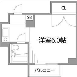レジデンスヘリオス[4階]の間取り