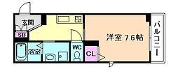 (仮称)SHM尼崎市今福 1階1Kの間取り