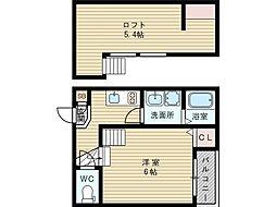 大阪府大阪市東淀川区瑞光2丁目の賃貸アパートの間取り