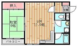 河波マンション[3階]の間取り