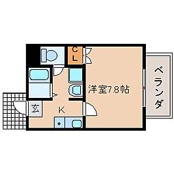 滋賀県長浜市列見町の賃貸アパートの間取り
