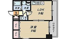 シティーコート堺駅前ロータリー[6階]の間取り
