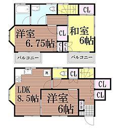 [一戸建] 東京都大田区久が原1丁目 の賃貸【/】の間取り