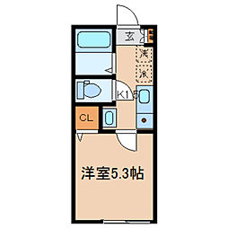 神奈川県横浜市保土ケ谷区宮田町3丁目の賃貸アパートの間取り