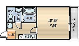 大阪府堺市堺区神南辺町1丁の賃貸マンションの間取り