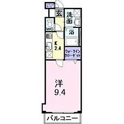 サザンクロス深井中町[3階]の間取り