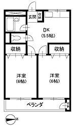 TCハイツ田無[2階]の間取り