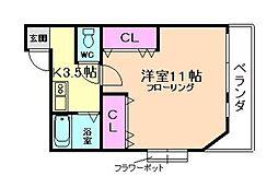 安原マンション[4階]の間取り