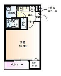 JR阪和線 百舌鳥駅 徒歩6分の賃貸アパート 1階1LDKの間取り