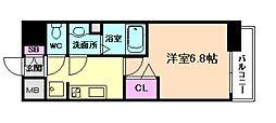 阪急宝塚本線 十三駅 徒歩12分の賃貸マンション 8階1Kの間取り