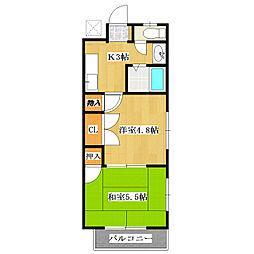 東京都葛飾区鎌倉3丁目の賃貸アパートの間取り