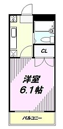 京王高尾線 めじろ台駅 バス10分 寺田センター下車 徒歩2分の賃貸マンション 1階1Kの間取り