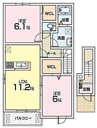 アンソレイエT1[2階]の間取り