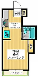 東京都世田谷区代沢5丁目の賃貸マンションの間取り