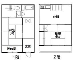 埼玉県草加市新栄4丁目の賃貸アパートの間取り