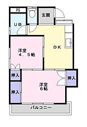 アーバンハイツ六実[2階]の間取り