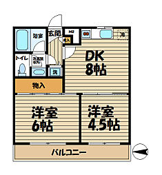コンフォート本郷台A棟[3階]の間取り