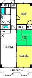 埼玉県さいたま市北区植竹町1丁目の賃貸マンションの間取り