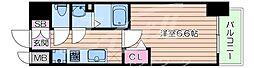 Osaka Metro谷町線 四天王寺前夕陽ヶ丘駅 徒歩8分の賃貸マンション 7階1Kの間取り