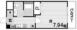 ラフォンテ神戸長田[5階]の間取り