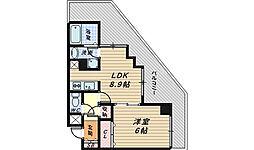 大阪府堺市北区東雲東町2丁の賃貸マンションの間取り