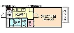 大阪府箕面市小野原東4丁目の賃貸アパートの間取り