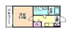 ノア千舟[3階]の間取り