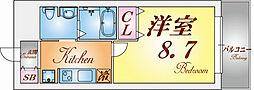エクセルコート神戸長田[6階]の間取り