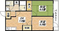レジデンスプラティーク[2階]の間取り