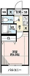 プレールドゥーク西新宿[3階]の間取り