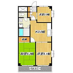 柴又第2STマンション[201号室]の間取り