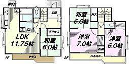 [一戸建] 東京都八王子市下恩方町 の賃貸【/】の間取り