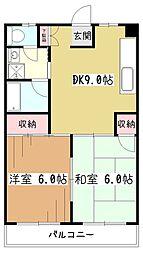 JUN東村山B[2階]の間取り