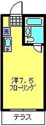 神奈川県横浜市港北区下田町3丁目の賃貸マンションの間取り