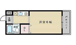 ラ・フォーレ大桐[4階]の間取り