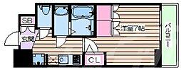 おおさか東線 JR淡路駅 徒歩6分の賃貸マンション 4階1Kの間取り