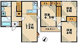 [テラスハウス] 東京都八王子市絹ケ丘3丁目 の賃貸【/】の間取り