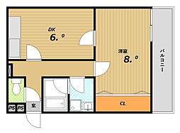 グランディア・ミ・アモーレ鈴蘭台[2階]の間取り