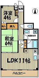 湘南ハナビル[4階]の間取り