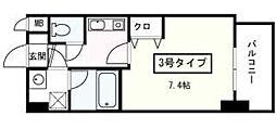 プレジール小笹[403号室]の間取り