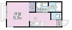 (仮称)大宮区大成町計画 1階ワンルームの間取り