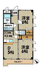 神奈川県鎌倉市台5丁目の賃貸マンションの間取り