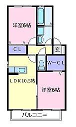 プレミール[1階]の間取り