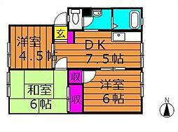 アンダンテ福井 A[101号室]の間取り
