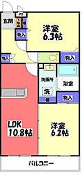 東京都八王子市弐分方町の賃貸マンションの間取り