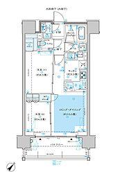 ディームス渋谷本町 5階2LDKの間取り