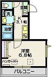 (仮称)三田2丁目メゾン 3階1Kの間取り