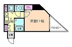 センティ天満橋[8階]の間取り