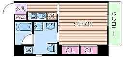 ロイヤルメゾン西天満[2階]の間取り
